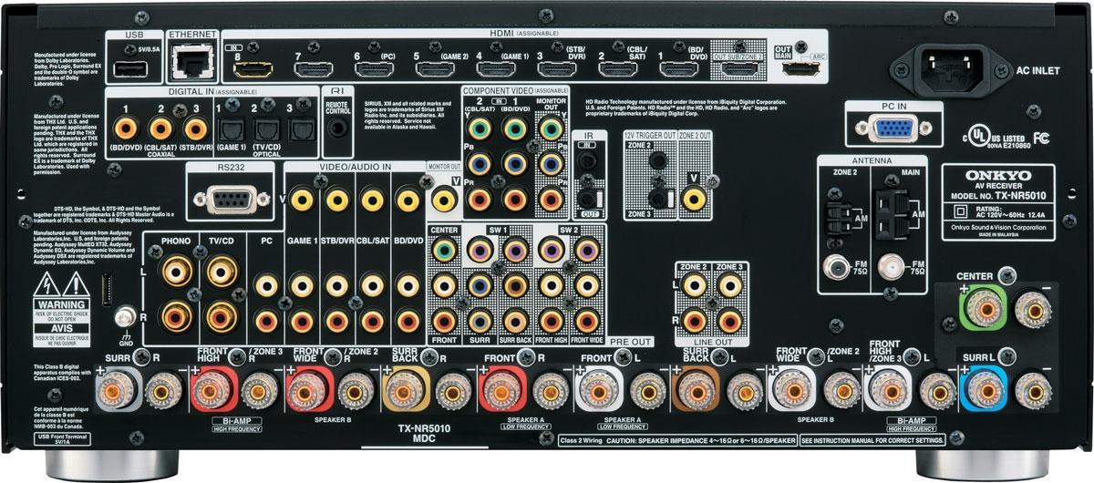 AV входы/выходы Аудио видео усилители имеют широкие возможности по подключению разнообразной аппаратуры.
